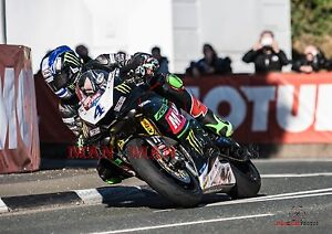 Ian Hutchinson 2017 Isle of Man TT Supersport  A4 size photo