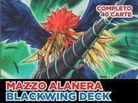 Yu Gi Oh! Deck Mazzo Completo Alanera Blackwing Pronto per Duellare + Extra Deck