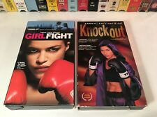Knockout & Girlfight Boxing Drama Vhs Lot of 2 Sophia Adella Hernandez