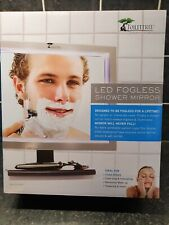 Deluxe Fogless LED Shower Mirror with Squeegee. Shaving, cleansing, exfoliating