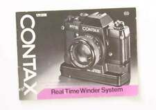 Contax Real Time Winder System Instuctions/107785
