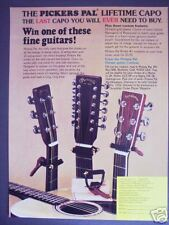 1978 vintage Ad Pickers Pal Capo, win a Martin guitar