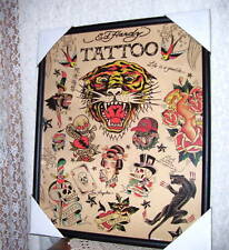Ed Hardy Framed Print Tattoo