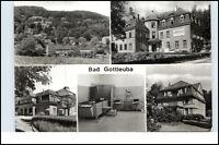 DDR Postkarte BAD GOTTLEUBA Klinik Sanatorium Mehrbild-AK 5 s/w Echtfotos