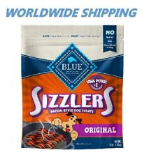 Blue Buffalo Sizzlers Bacon Style Dog Treats 6 Oz WORLDWIDE SHIPPING