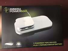 Duracell PowerMat Portable Charger Set for 2 Devices + Portable Battery Backup