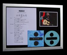 ED SHEERAN Perfect GALLERY QUALITY FRAMED CD DISPLAY+EXPRESS GLOBAL SHIP+DIVIDE