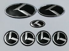 7pcs/set New 3D black K logo badge emblem for KIA OPTIMA K5 2011-2018