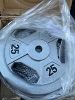"""marcy olympic weights 25lb Set Of 2 Total 50 Lb 1"""" hole"""