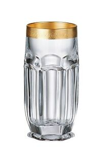 Bohemia Crystal - Safari Gold Highball Tumbler 10 oz. Set of 6