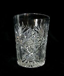 American Brilliant Cut Glass Whiskey Tumbler, Lot 8