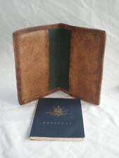 Handmade Goat Leather Passport Cover Document Wallet BCPP Billy Goat Designs