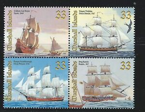 Marshall Islands  Sc 713  Ships  Block of 4  Galleon Los Reyes, Spain 1568, etc