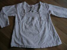 Tunika Blusenshirt LA-Shirt weiss niedlich 98/104 3-4 Jahre von Next