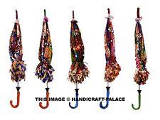 5 PCs Lot Designer Wedding decoration Umbrella Embroidered Sun Protect Parasol