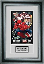 Single Comic Book Frame with Custom Engraving in our Premium Black Moulding