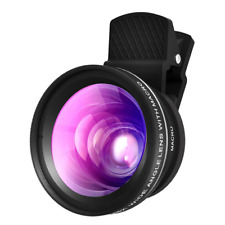 X-DRAGON Cell Phone iPhone Lens 0.45X Super Wide Angle Lens, 16X Macro Lens Clip