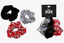 Disney 101 Dalmatians Scrunchie Set of 3 - Black, Dalmatian Print and Red