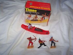 Vintage 1975 / 76 Timpo Miniset Wild west collection 754 Indians / Canoe boxed