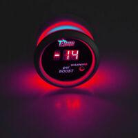 """2"""" 52mm Black Car Truck Digital Red LED PSI Turbo Boost LED Gauge Meter Kit W8"""