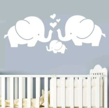 "Elephant Decal Wall Sticker 23.62"" X 9.05"" Hearts Vinyl Nursery Childs Bedroom"