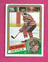 1984-85 OPC # 121 DEVILS PAT VERBEEK ROOKIE VG CARD (INV# C4528)