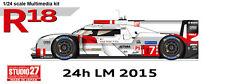 Studio27 FD24013 1:24 Audi R18 e-tron quattro LM 2015 Multimedia Kit