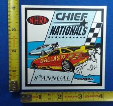 1993 NHRA Chief Nationals Event Decal Sticker ~ Dallas, TX ~ Winston Drag Racing