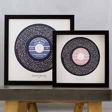Personalised Song Lyrics Print Vinyl Record Perfect Wedding Valentines Day Gift