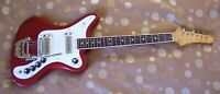 Wurlitzer Wildkat 1965 Stereo Guitar loli pop red with case and cord