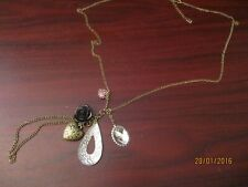 Cluster Bead  Pendant Chain Necklace