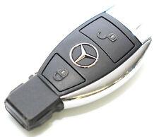 Mercedes Fahrzeugschlüssel Funkschlüssel Autoschlüssel 2-Tasten Schlüssel Chrom