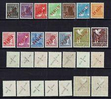 West Berlin Mi. Nr. 21 - 34 ** geprüft teils Aufdruck oder Gummi falsch aus 1949
