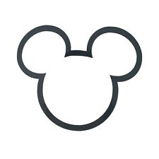 Mickey Mouse Head Decal Vinyl Sticker - Various Colours & Sizes