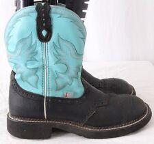 Justin L9905 Gypsy Black Round Toe Cowboy Western Short Boots Women's US 8.5B