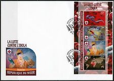 NIGER 2016 BATTLE AGAINST EBOLA  SHEET  FIRST DAY COVER
