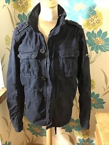 Abercrombie And Fitch Men's Dark Blue Jacket Size Small Great Pockets Free P&P
