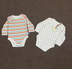 🌈 BNWT Little Bird Unisex Bodysuit/Vest Age 3-6. Months 🍄