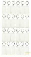 Lot of 24 Photo Keychains Blank Clear Acrylic Insert Picture Frame 2