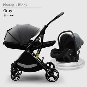 Baby Stroller 3 In1 Portable Lightweight Aluminum Frame With Carseat For Newborn