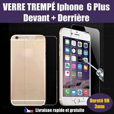 Vitre Verre trempé IPhone 6 plus  AVANT + ARRIERE film de protection écran