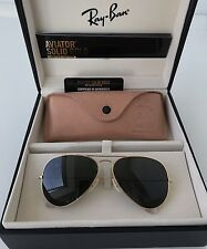 Ray BAN Solid Oro 18 carati Aviator Occhiali da Sole Glasses Limited Edition