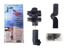 RV Flag Pole Mount Set 1.0 inch by FlagPole Buddy for 12 Foot Tall Poles (Black)