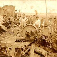 1900s LN Louisville Nashville Train Wreck Railroad Derailment Real Photo RPPC A2