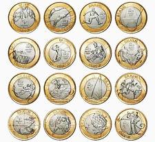 Brazil, 2016 RIO Olympic Games, Coin 16 PCS FULL SET, 1 Real, UNC, Comm, BIMETAL