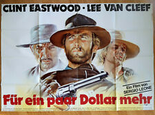 Sergio Leone For A Few Dollars More rare German 2-sheet Clint Eastwood van Cleef