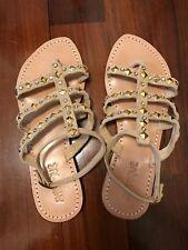 Mystique sandali colore beige con borchiette e strass Tg.40 (10)