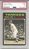 SET BREAK -1971 TOPPS #358 DANNY CATER,  PSA 5 EX, NEW YORK YANKEES, L@@K !