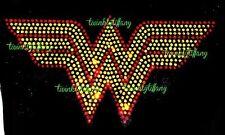 "HOTFIX RHINESTONE HEAT TRASFER IRON ON ""WONDER WOMEN BLING"""