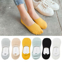 Women Girls Japanese Low Cut No Show Anti-Skid Silicone Short Ankle Boat Socks
